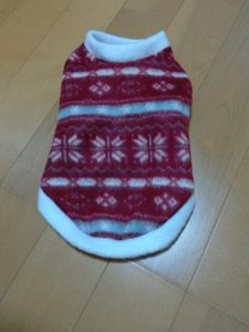 クリスマス用と冬の犬の服(ビーチグラス)