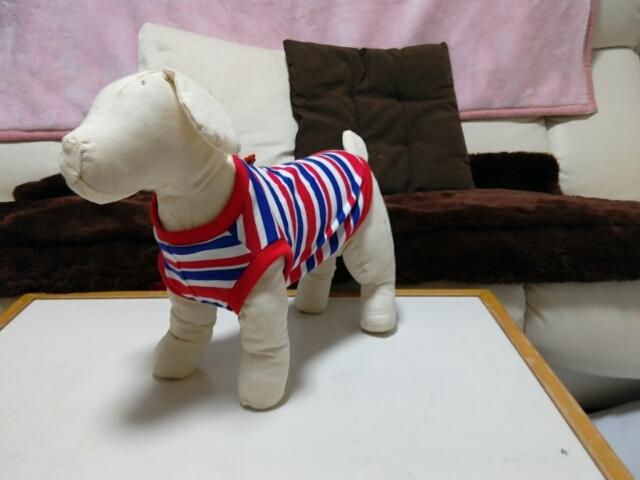 夏用の犬の服作りました