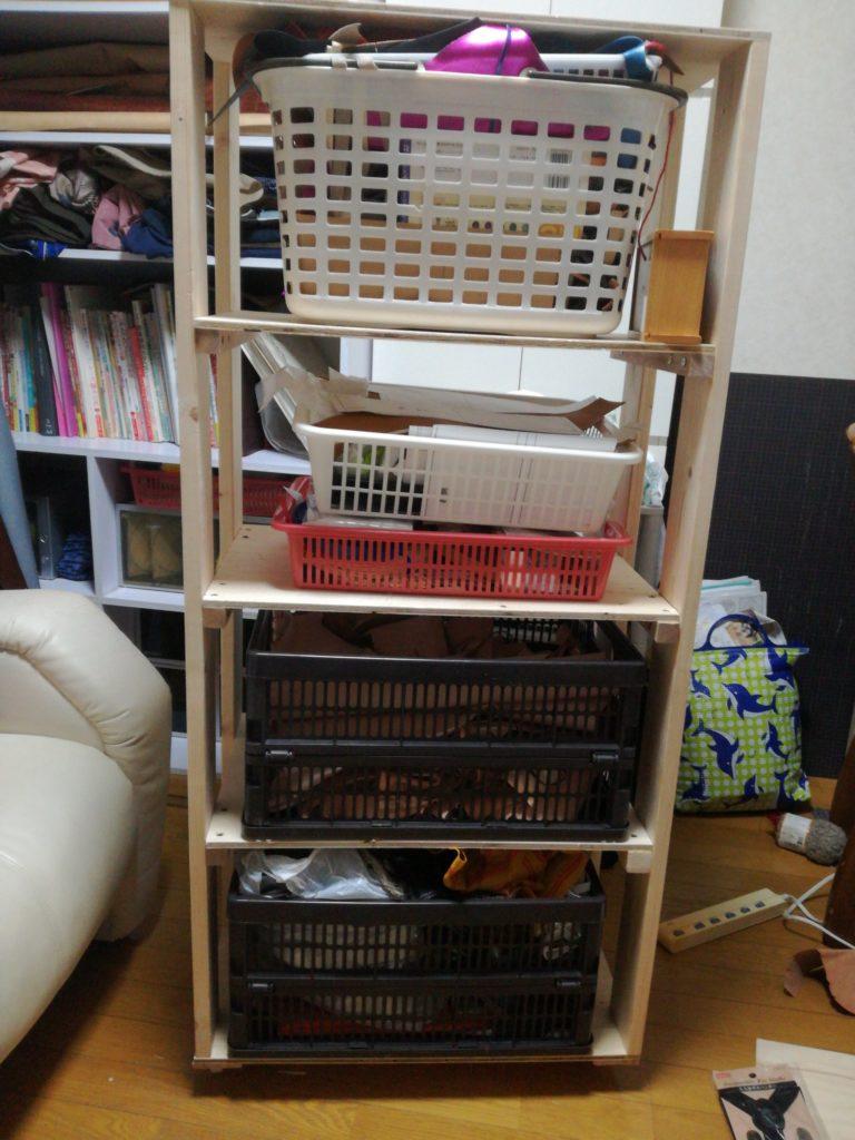 仕事部屋の改造をして棚を製作しました